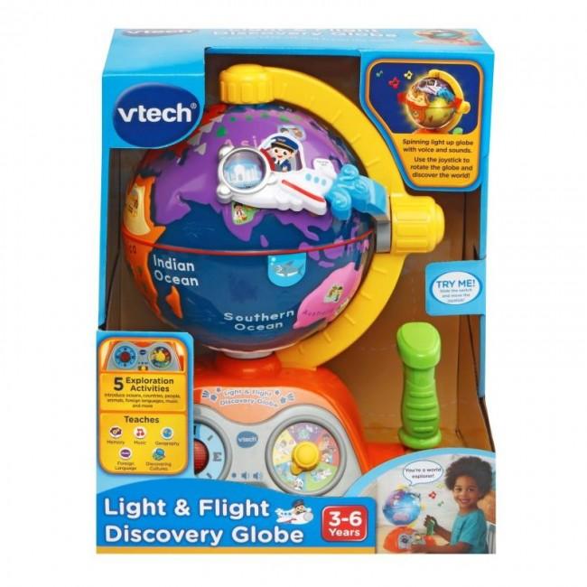 VTech Light & Flight Discovery Globe - Kids Learning toy