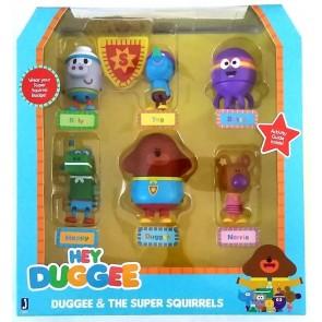 Hey Duggee super Squirrels figurines set