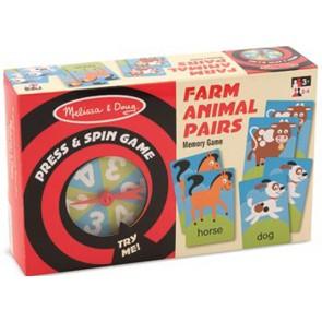 melissa & doug Farm Animal memory game
