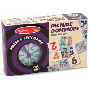 Press & Spin Game Picture Dominoes melissa &doug