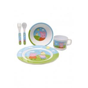 peppa pig plate cup spoon
