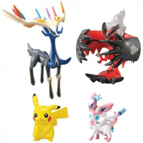 Tomy XY Pokemon Super 4-Pack: Xerneas, Pikachu, Sylveon & Yveltal
