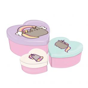 pusheen cat storage box heart shape