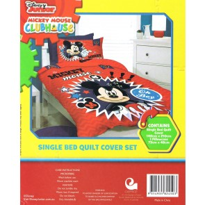 Mickey Mouse Single Bed Quilt Pillow Cover