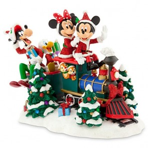 santa mickey mouse train