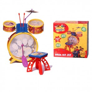THE WIGGLES DRUM KIT SET Kids Musical Instrument Toy Pretend Play Drummer